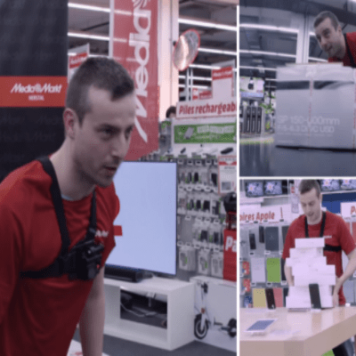 Guy Is Given 100 Seconds To Grab Whatever He Can From An Electronic Store!